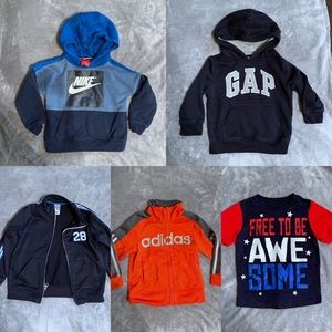 Boys 2t winter clothes Nike adidas and more 5 Lot